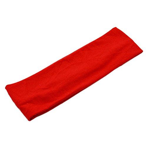 Demarkt Sport Headband Stirnband für Running Yoga Fitness 21 * 7CM Rot