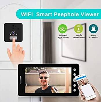 Rechargeable Peephole Camera with LED Touch Screen: photo