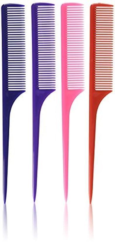 しなければならないトラフ測るDiane Rat Tail Comb Assorted, 9 Inch, 12 Count [並行輸入品]