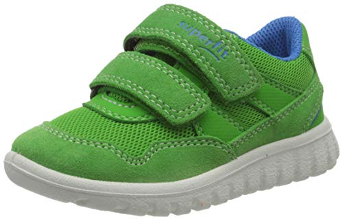 Superfit Baby Jungen SPORT7 Mini Sneaker, Grün (Grün/Blau 70), 25 EU