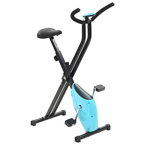 vidaXL Vélo d'Appartement Résistance à Courroie Bleu X-Bike Vélo d'exercice