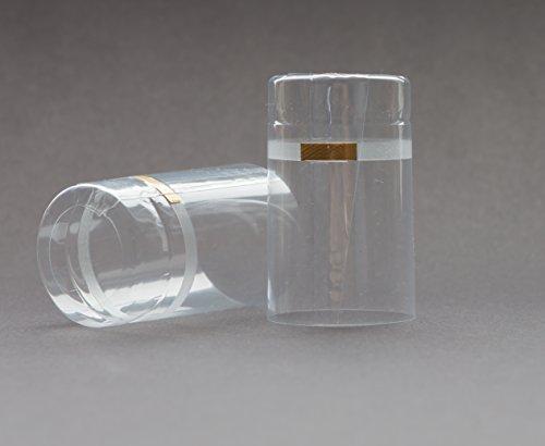 15, 25, 50 ou 75 pièces rétrécir bouchons (⌀ = 32,5 mm / longueur = 55 mm) transparent avec des languettes pour bouchons (50 Pièces)