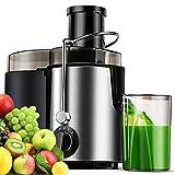 Centrifuga, centrifuga, centrifuga per frutta e verdura, centrifuga elettrica con 2 livelli di velocità e funzione pulsazioni, facile da pulire, funzione anti-goccia, spazzola inclusa, 400 W