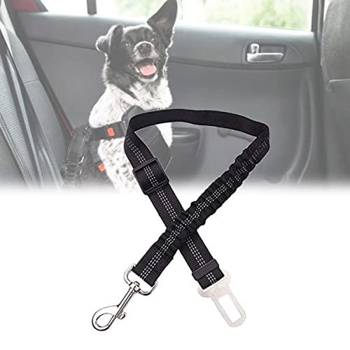YCRD Cinturón Seguridad de Coche para Perros, Arnés del Cinturón de Nylon Ajustable Universal, Fuerte mosquetón, Ajustable Perros Correa para Viajes en automóvil para Mascotas