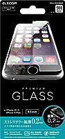 ELECOM iPhone 6s Plus/6 Plus 液晶保護ガラスフィルム [3D touch 最高硬度9H 極薄0.2mm ラウンドエッジ加工 飛散防止設計] PM-A15LFLGG02