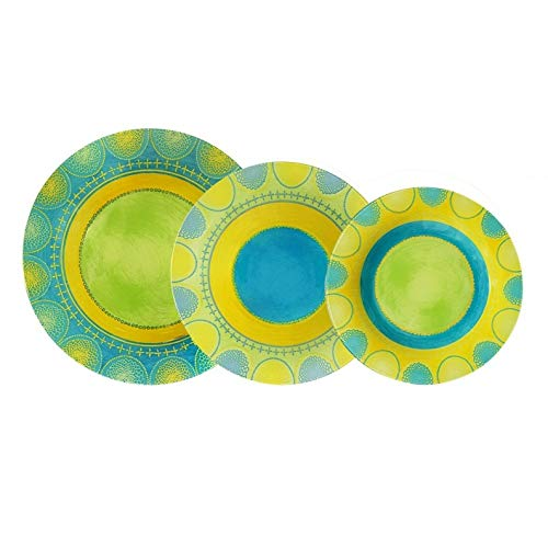 Aropal Propriano Luminarc Lot de 18 assiettes Turquoise