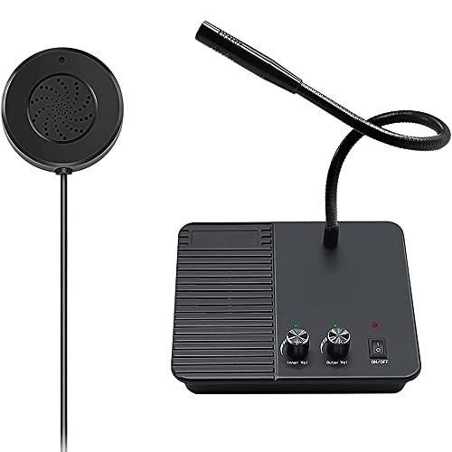 JHshop Ventana Sistema de intercomunicación con Altavoz, micrófono y Altavoz Sistema de intercomunicación de Doble vía Intercomunicación antiinterferencias