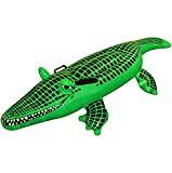 Spinbit Inflatable Crocodile Large 150cm Alligator Beach Pool Party Blow Up Float Toy Fancy Dress One Size