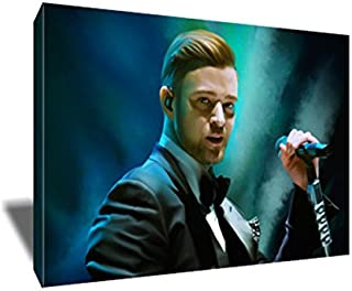 NSYNC's Justin Timberlake Canvas Painting Poster Artwork on Canvas Art Print (8x12 inches)