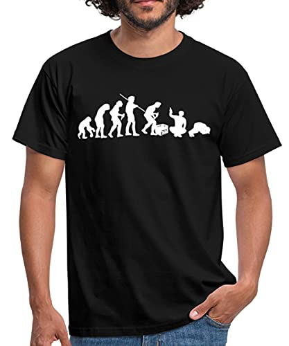 Evolution Biertrinker Bier Trinken Sauftour Männer T-Shirt, 3XL, Schwarz