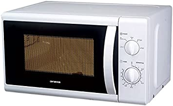 Orava MW-2006 Encimera 20L 800W Color blanco - Microondas (Encimera, 20 L, 800 W, Giratorio, Color blanco, Izquierda)