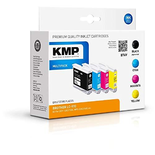 KMP B76V - Cartucho de Tinta para Brother LC970VALBP (Alternativo a B13V)