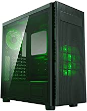 Apevia X-HARMONY-GN Mid Tower with Full-Size Acrylic Side Window, Top USB3.0/USB2.0/Audio Ports - Green