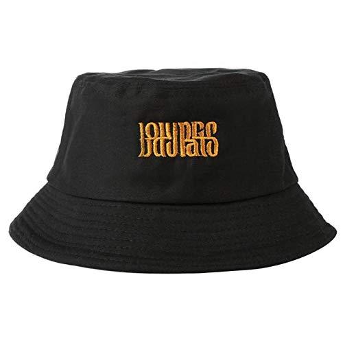 Bucket Hat Chapeau Seau Chapeau Lettre Unisexe Hip Hop Voyage en Plein Air Pêcheur Casquettes De Soleil Été Chapeau De Soleil Chapeaux De Voyage pour Adolescents Filles Noir