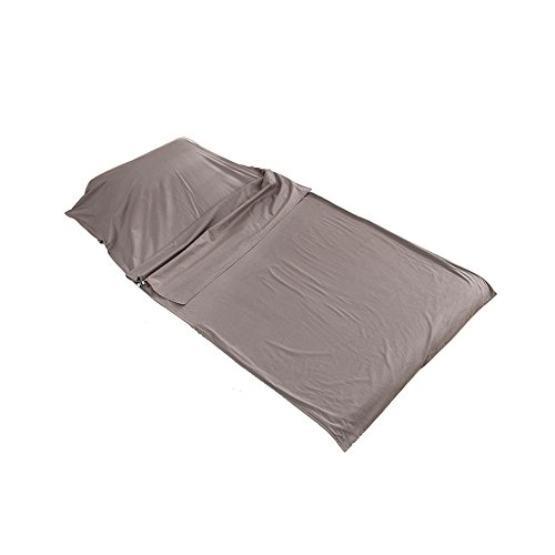 Outry Travel and Camping Sheet, Sleeping Bag Liner/Inner, Lightweight Summer Sleeping Bag - Gray (material: 100% cotton) - S:31.5'x82.7'/80cmx210cm