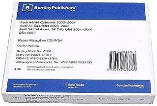 Audi A4 Quattro RS4 S4 Cabriolet 2002-2009 CD-ROM Service Repair Manual Bentley