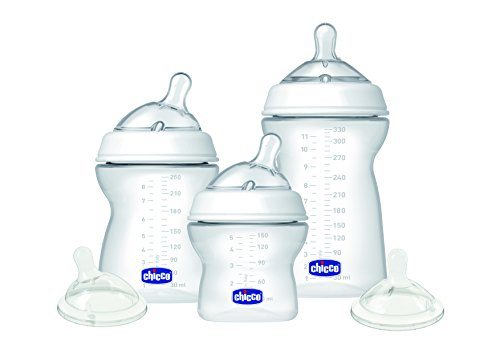 Chicco 00009797000000 Natural Feeling Kit Biberon Composta da 3 Pezzi, 330 ml/250 ml/150 ml