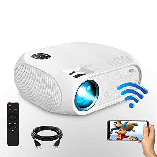 Wireless WiFi Projector, Weton 4200Lux Portable Mini Video Projector(2020 Upgraded), 1080P HD Supported for Home Movie Theater, Compatible for iOS Android Smartphones Tablet,TV Stick,Laptops,TV Box