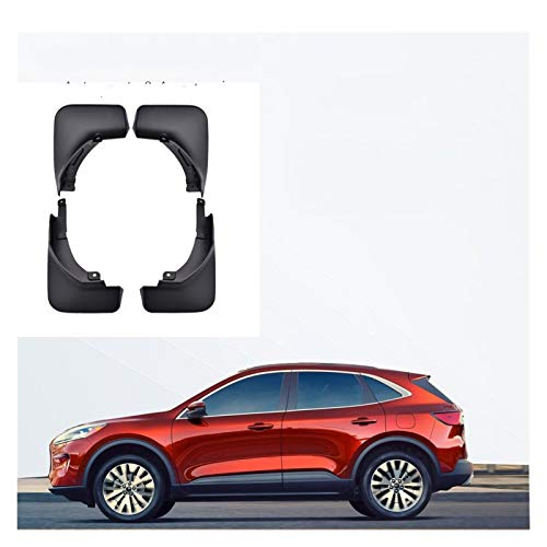 QUXING Aletas de Barro del Coche para Ford Escape MK4 Kuga Mk3 2020 2021 4pcs Coche Mudflaps De Barro Flaps De Lodo Splash Guards Guardes Mudguards Flow Flap Splash Guardias