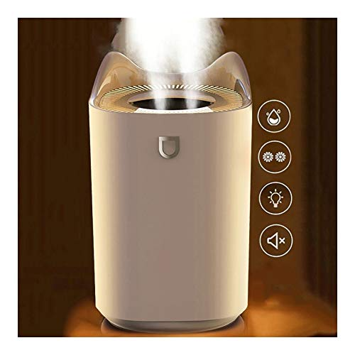 FGDJTYYJ Humidificador 3000ml - Hogar Silencioso Dormitorio Oficina Aire Acondicionado Humidificador USB Purificación de Aire Mini difusor de Aroma Creativo (Color : White)