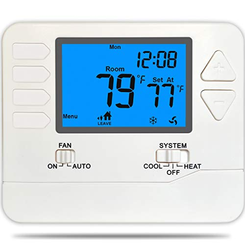 Suuwer SW715 Programmable Electronic Thermostat, Multi-Stage 2 Heat/2 Cool, with 4.5 sq. inch Display