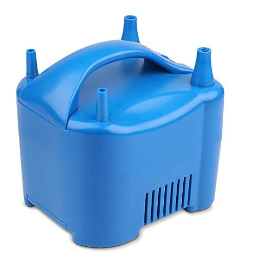 Flexzion Bomba eléctrica Globo de Aire - portátil de Doble Boquilla para inflar con Aire del Ventilador con Motor Incorporado Avanzada Alambre de Almacenamiento para los niños Fiesta de cumpleaños de