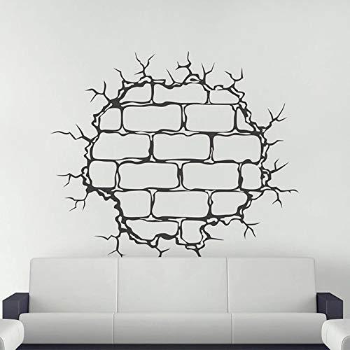 Etiqueta de la pared de la guardería Etiqueta de la pared de la grieta Etiqueta de la pared de ladrillo roto Etiqueta de la pared de la plantilla de la grieta