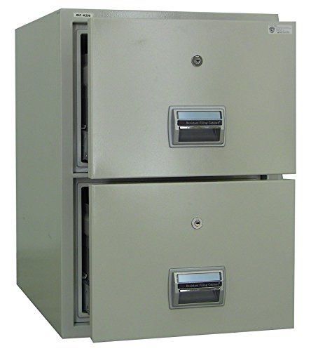 Steelwater Gun Safes AMFFC-200 Fireproof and Burglary Resistant 2 Drawer File Cabinet