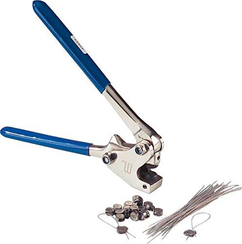 Westfalia Plombierzange Plombenzange 8-10mm L: 170 mm + Plombenset mit Draht Zählerplomben