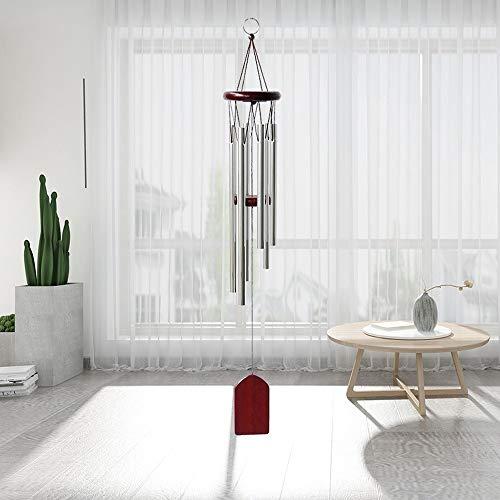 HUASUI Campanas de viento de metal para colgar en la pared, estilo nórdico, clásico, hecho a mano, para jardín, patio, exterior, decoración del hogar (rojo)