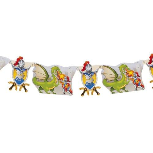 WOOOOZY Girlande Ritter & Drachen aus Papier, 290 cm