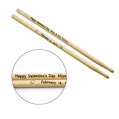 Baquetas grabadas personalizadas 5A Regalo para baterista Cumpleaños Profesora Profesor Estudiante (1 par)