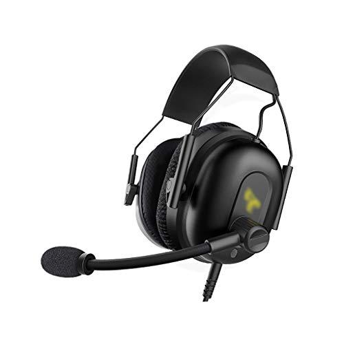 ZZL 7.1 Sonido Envolvente sobre Auriculares para Juegos de Oído con Micrófonos Suaves para PC PS4 Laptop Xbox One Mac iPad (Color : Black)
