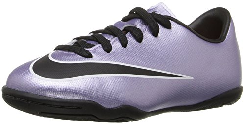 Nike Jr Mercurial Victory V IC, Zapatillas de Deporte para Niñas, Plateado/Negro/Amarillo/Blanco (Urbn Lilac/Blk-Brght MNG-White), 35 1/2 EU