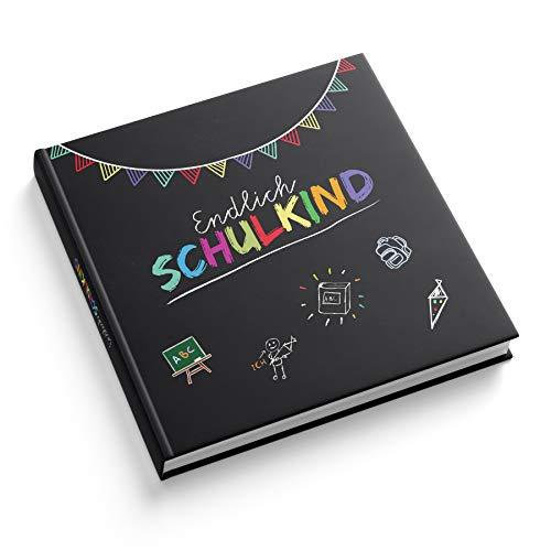 itenga Gästebuch Tafel für Erster Schultag Einschulung und Schulanfang Erinnerung Album 88 Seiten mit Fadenheftung für Mädchen und Jungen