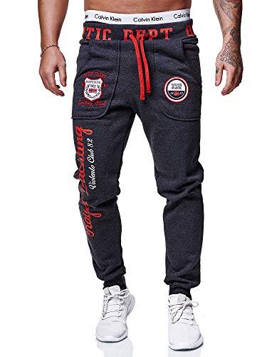 OneRedox Herren Jogginghose Sporthose Männer Trainingshose Sweatpants 601 Antrazit S