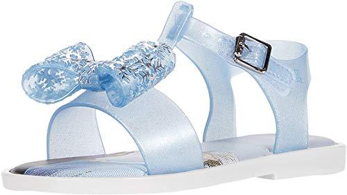 mini melissa Girl's Mar Sandal + Frozen BB (Toddler/Little Kid) White/Blue 8 Toddler M