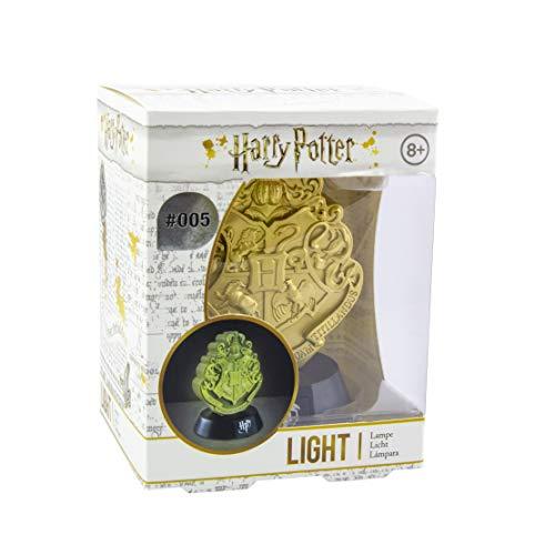 Paladone Hogwarts Crest Icon Light BDP | Inspirado en la serie Harry Potter | Luz nocturna ideal para dormitorios de niños, oficina y hogar | Pop Culture Lighting Merchandise, dorado