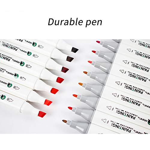 Ouniman 36 Colors Dual Tips Marker Pen Art Marker,Water Based Coloring Brush Paint Pens for Artists Designer Adults Kids Coloring Book Painting Drawing Sketching Shading Card Marking DIY Craft (White)