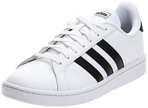 adidas Mens Grand Court Sneaker, Cloud White/Core Black/Cloud White, 42 2/3 EU