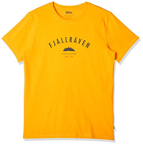 FJÄLLRÄVEN T-Shirt de Trekking pour Homme S Jaune Chaud.
