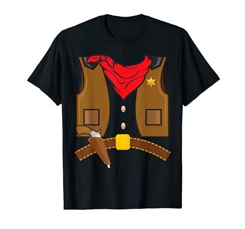 Cowboy sherif Cowgirl Halloween Costume Men Women Kids T-Shirt