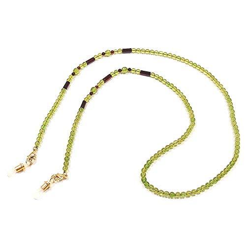 [アンティエーレ] entiere 琥珀 メガネチェーン 眼鏡チェーン ネックレス 兼用 グリーンカラー 72cm