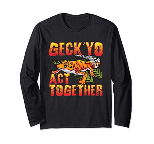 Gecko Geck Yo Act Together Lizard Pet Geckos Manga Larga