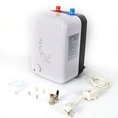 Calentador electronico de agua de 8 l, 220 V, 1500 W, mini electrico, sin deposito, instantaneo, calentador de agua para bano o cocina