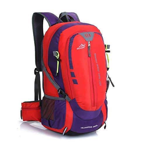 Sincere® la mode Fashion Backpack / Zipper Sacs à dos / Rue / Multifonction / Grand sac de capacité / sacs de montagne / extérieur sac de sport / ordinateur sac à dos rouge 40L