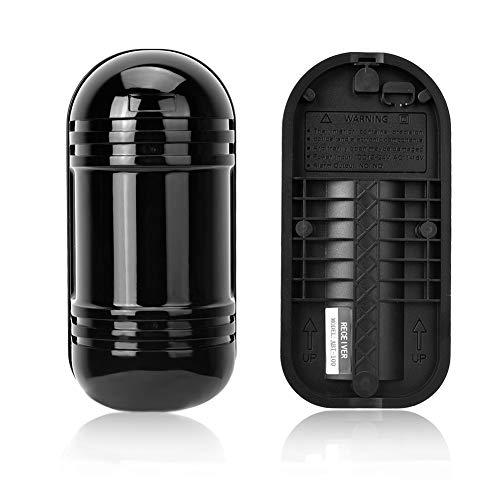 Sensor de Doble Haz de Infrarrojos, Detector de Barrera fotoeléctrico Impermeable Detección Activa Sistema de Seguridad de Pulso Digital