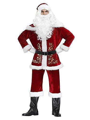 Feynman Adulte Vêtements Costume de Père Noël Déguisement de Noël