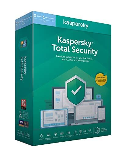 Kaspersky Total Security 2020 Standard | 3 Geräte | 1 Jahr | Windows/Mac/Android | Aktivierungscode in Standardverpackung