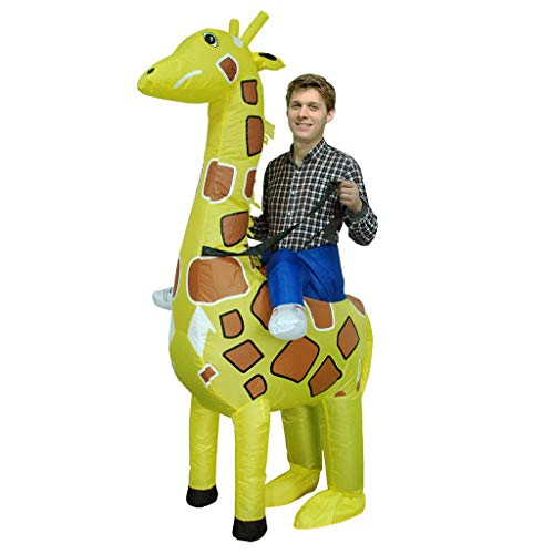 Halloween dresses Christmas Inflatable Clothing, Giraffe Adult Half-Length Role Playing Christmas Carnival Parent-Child Performance Party Costume